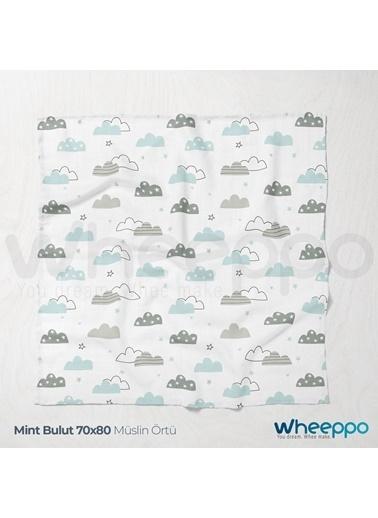 Wheeppo Mint Bulut  Müslin Örtü  70*80 Cm Renkli